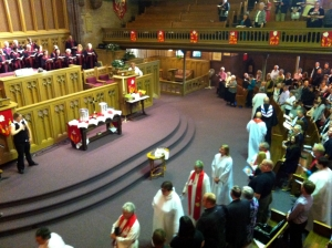 Entrance procession for ordination and diaconal commissioning, Metropolitan Church