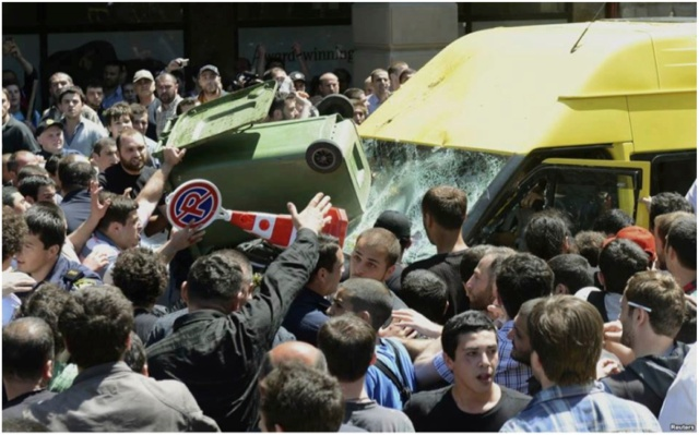 Violence in Tblisi