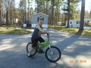 Billy on his bike(before new helmet!)