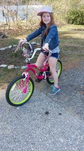 Madeline on her bike
